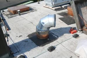 Abluftrohr Dach
